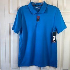 Fila Blue Athletic Fit Golf Shirt NWT sz S Men's